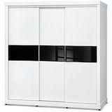 日式量販 極簡黑白設計7尺推門衣櫃