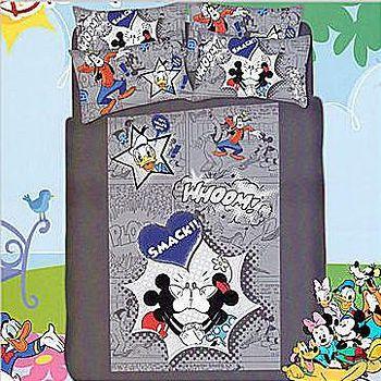 名流寢飾 精梳棉兩用被床包組-迪士尼樂園 單人加大3.5*6.2尺
