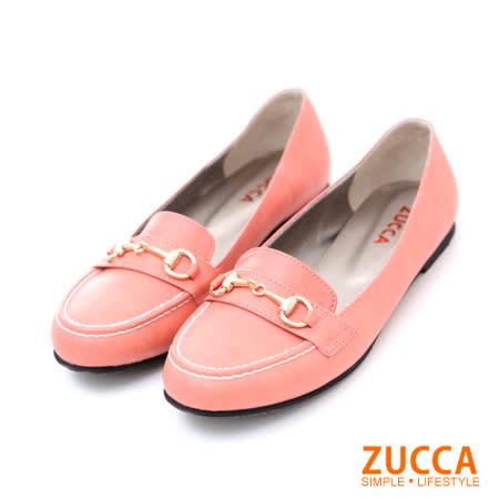 Zucca【Z5603RD】紳士風金扣漆皮包鞋-紅色