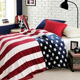 MONTAGUT-時尚國旗雙層毯(美國)