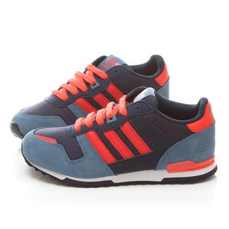 Adidas 大童 復古麂皮運動鞋M25135-藍橘