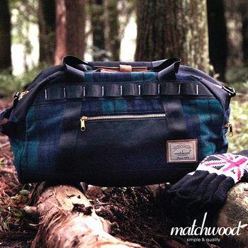 MATCHWOOD Boston Bag 波士頓包 旅行袋 -毛料格紋