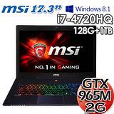 msi 微星GS70 2QD 17.3吋 i7-4720HQ GTX965M 獨顯2G Win 8.1 電競筆電