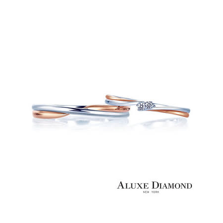 A-LUXE 亞立詩鑽石 婚戒結婚對戒 Muses系列 18K金雙色對戒