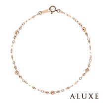 A-LUXE 亞立詩鑽石 Shine 經典百搭 18K玫瑰金手鍊