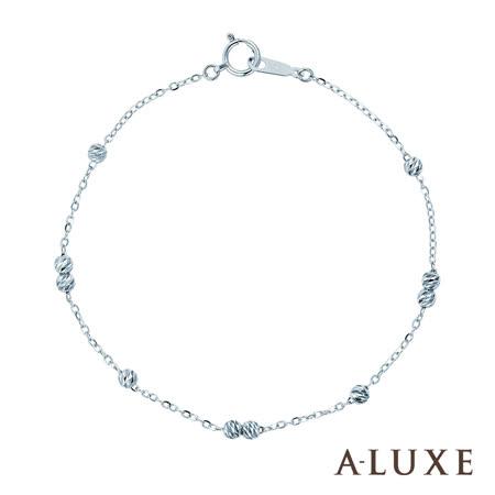 A-LUXE 亞立詩鑽石 Shine 經典百搭 18K金手鍊