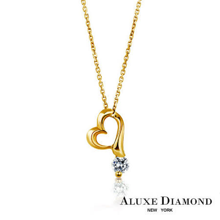 A-LUXE 亞立詩鑽石 The Cross 系列 0.10克拉18K黃金美鑽項鍊