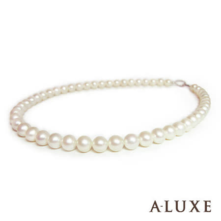 A-LUXE 亞立詩鑽石 天然淡水養珠 8-8.5mm 珍珠項鍊
