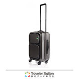 《Traveler Station》LOJEL 21吋輕量化拉桿登機箱-鐵灰色