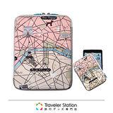 《Traveler Station》HAPI+TAS iPad 護套-米色地圖
