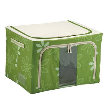 80L折疊收納箱-綠(60*42*32cm)