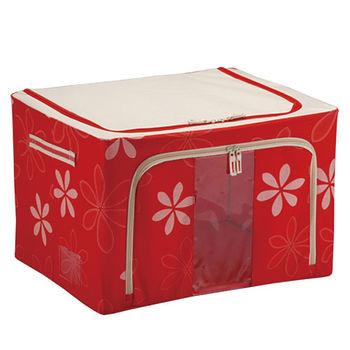 80L折疊收納箱-紅(60*42*32cm)