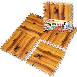 【LOG樂格】環保遊戲木紋巧拼地墊 -紅木色