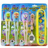 韓國 Edison 兒童學習餐具 Pororo 第一階段學習筷+湯匙+餐袋 三款可選  (建議兩歲以上使用)