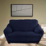 《格藍傢飾》典雅涼感彈性沙發套-寶藍1+2+3人座