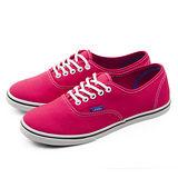 女 VANS  休閒時尚帆布鞋 Authentic 玫紅 51011213