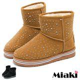 【Miaki】暢銷厚底雪靴 Blig經典設計短靴(黑色 / 黃色)