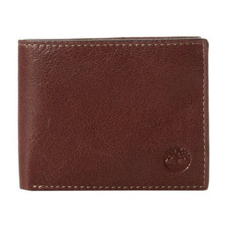 Timberland 2015男時尚Brea雙折深褐色皮夾【預購】