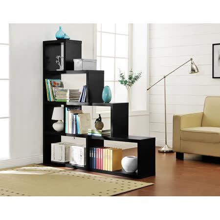 【Yomei】L型多層展示櫃/書櫃/收納櫃/隔間櫃(黑色)