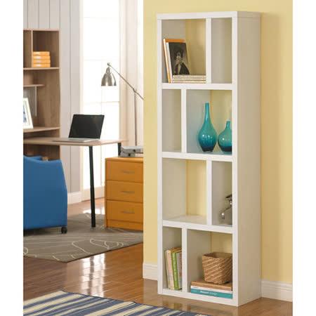 【Yomei】高雅八格展示櫃/書櫃/收納櫃/隔間櫃(白色)