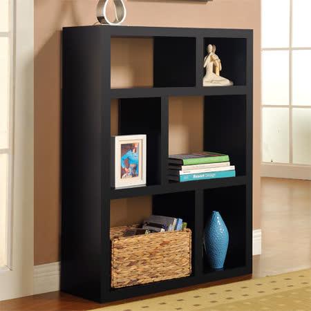 【Yomei】創意六格展示櫃/書櫃/收納櫃/隔間櫃(黑色)