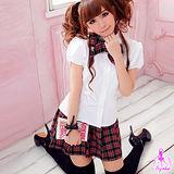 【Ayoka】學園格紋三件式學生角色扮演服