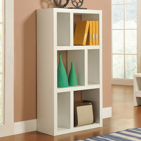 【Yomei】時尚六格展示櫃/書櫃/收納櫃/隔間櫃(白色)
