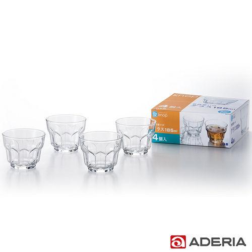 ~ADERIA~ 花型玻璃杯四件組185ml
