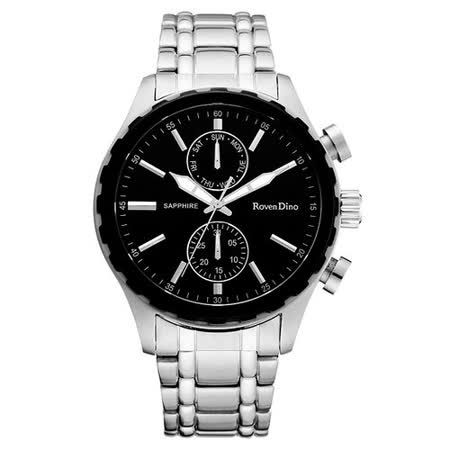 Roven Dino羅梵迪諾 自我實現主義時尚腕錶-銀