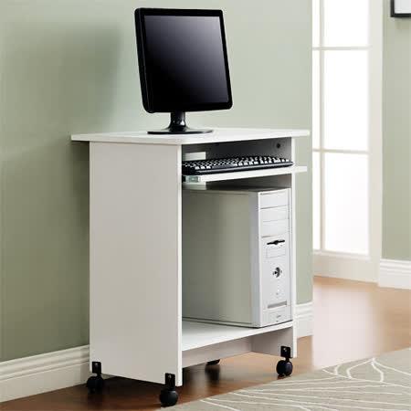 【Yomei】輕巧附鍵盤架電腦桌/工作桌/書桌(白色)