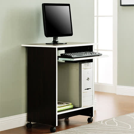 【Yomei】輕巧附鍵盤架電腦桌/工作桌/書桌(胡桃色)