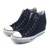 (W系列)CONVERSE Chuck Taylor All Star Lux 帆布鞋 黑/白-547190C