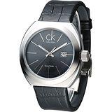 CK 城市菁英時尚經典男腕錶-黑 (K0R21107)