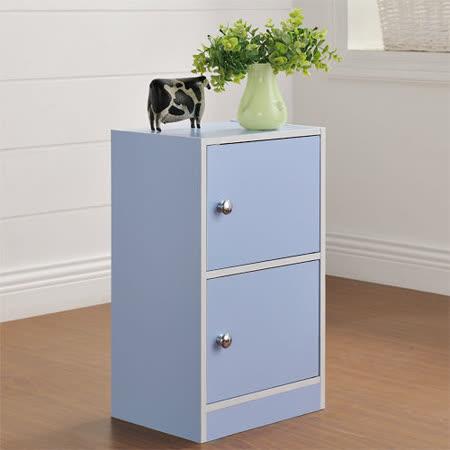 【Yomei】DIY輕鬆收納兩門櫃/書櫃/置物櫃/收納櫃(藍色)