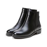 《JOYCE》素面復古平底短靴
