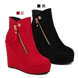 《JOYCE》增高必備麂皮踝短靴