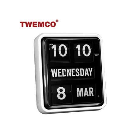 【TWEMCO】復古收藏 超大數字翻頁鐘/掛鐘/萬年曆 (BQ-170 英文日期)