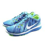 (女)NIKE WMN NIKE FREE 5.0 TR FIT 5 PRT 慢跑鞋 藍/紫/螢光綠-704695400