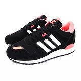 (女)ADIDAS ZX 700 W 休閒鞋 黑/亮橘紅-M19412