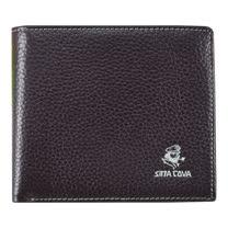 【SINA COVA】老船長荔紋牛皮短皮夾SC31505-3-深咖啡