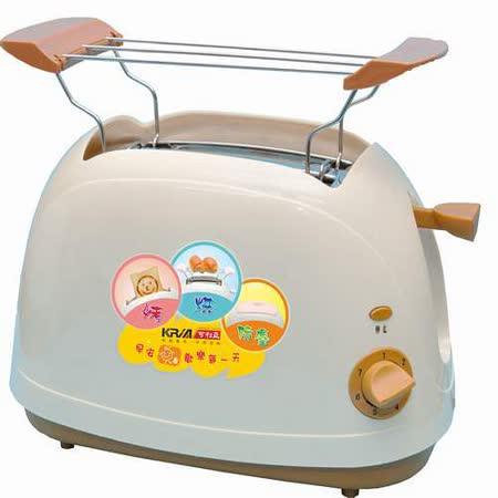 【好物分享】gohappy快樂購物網【KRIA可利亞】烘烤二用笑臉麵包機KR-8003(咖啡色)價錢中港 愛 買 餐廳
