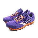 (女)MIZUNO 美津濃 WAVE HITOGAMI 2 慢跑鞋 紫/橘-J1GB158004