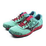 (女)MIZUNO 美津濃 WAVE HITOGAMI 2 慢跑鞋 綠/桃紅-J1GB158008