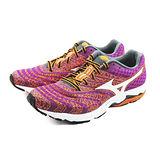 (女)MIZUNO 美津濃 WAVE SAYONARA 2 慢跑鞋 紫桃紅/橘黃-J1GD143002