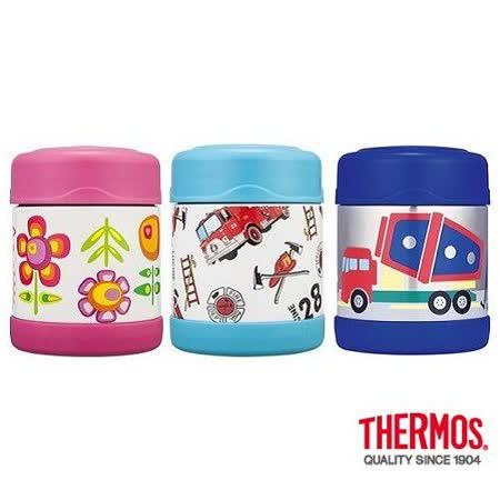 THERMOS膳魔師不鏽鋼真空食物罐300ml卡通系列 (F3001)2入組