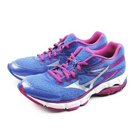 (女)MIZUNO 美津濃 WAVE CONNECT 2 慢跑鞋 紫/桃紅-J1GD154803