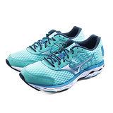 (女)MIZUNO 美津濃 WAVE INSPIRE 11 慢跑鞋 藍綠-J1GD154603