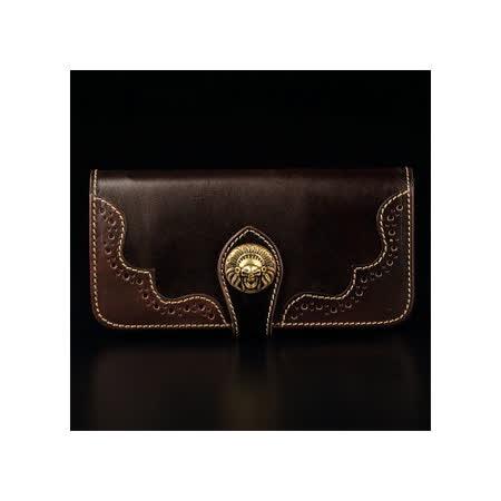 倉吉0088 復古植鞣革手工財布、皮夾/ 哈雷款