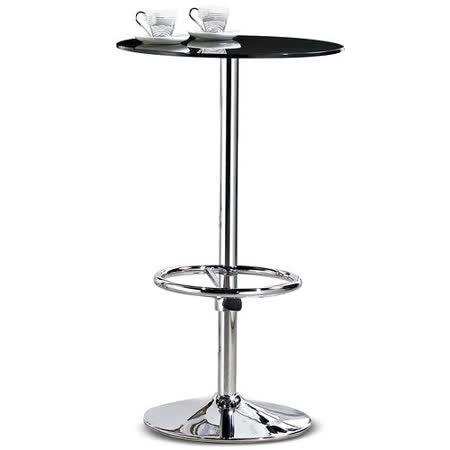 【椅吧】現代潮流黑色玻璃吧台桌