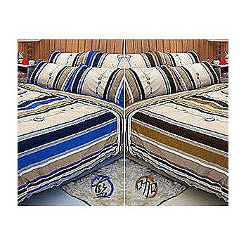 名流寢飾 100%精梳棉雙人特大床包組 -尋夢園